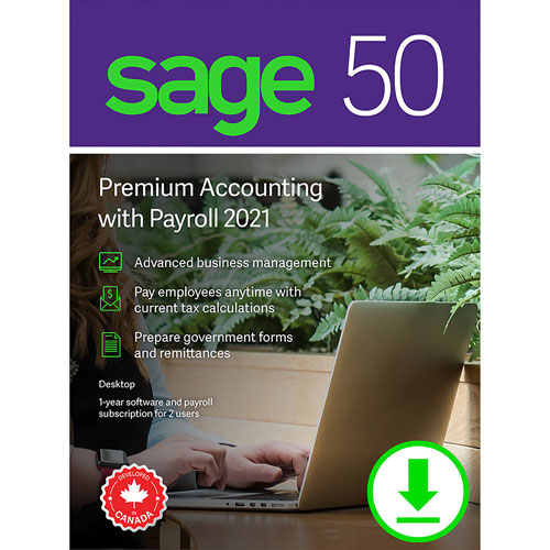 Sage 50 Premium Accounting with Payroll 2021