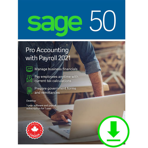 Sage 50 Pro Accounting with Payroll 2021